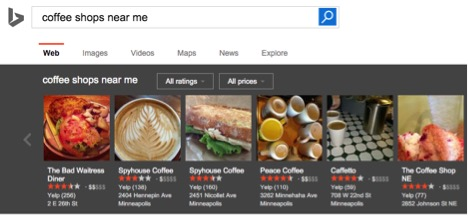bing local search results