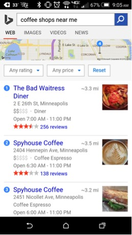 bing mobile search 1