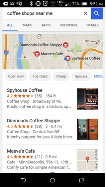 mobile google local search