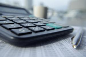 Calculator calculating PPC budget